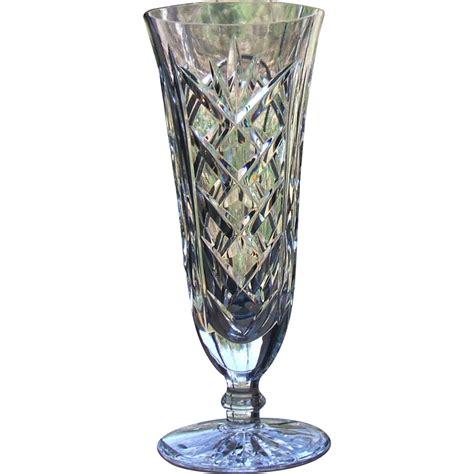 Waterford Flower Vase by Vintage Waterford Ireland 7 Inch Footed Flower