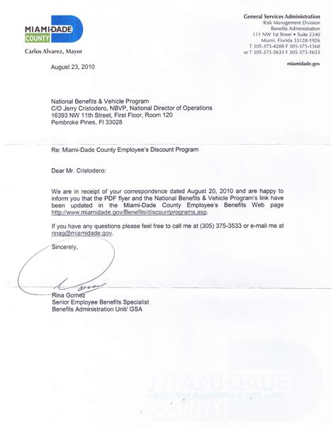 Miami Acceptance Letter Date miami dade county national benefits programs