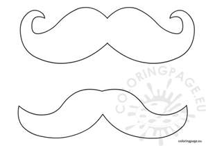 Mustache Template Outline by Mustache Template Coloring Page