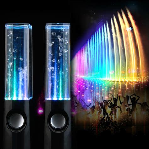 Speaker Multi Colour Led With Water Effect T3009 2 bl led water speaker light show for
