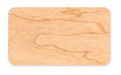 Flat Business Card: Birch, Cherry or Cedar ? Blank Wood