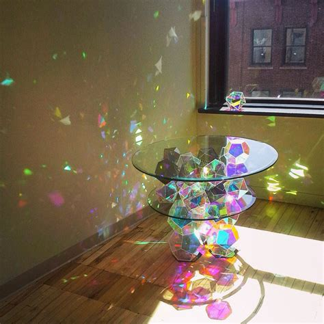 prism table sparkle tables that come to life with sunlight 171 twistedsifter