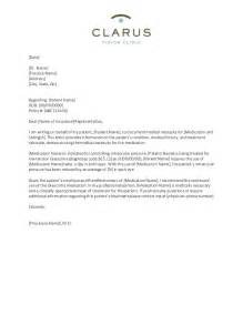 letter to insurance company for medication