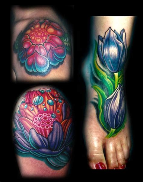 flower collage tattoo large image leave comment
