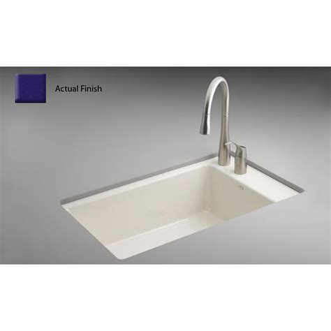 shop kohler indio single basin undermount enameled cast