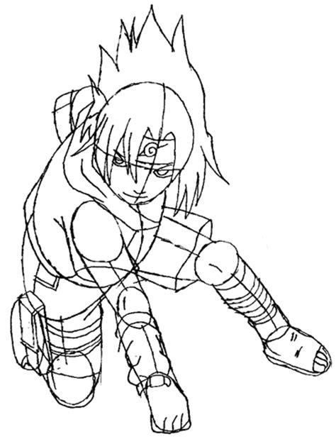 Simple Drawing Menggambar Tubuh cara menggambar sasuke uchiha dengan mudah dan sederhana dunia menggambar