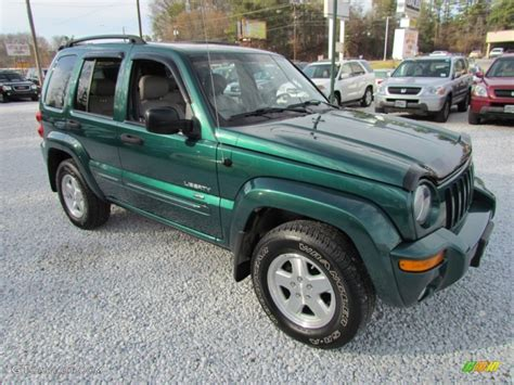 green jeep liberty 2004 timberline green pearl jeep liberty limited 4x4