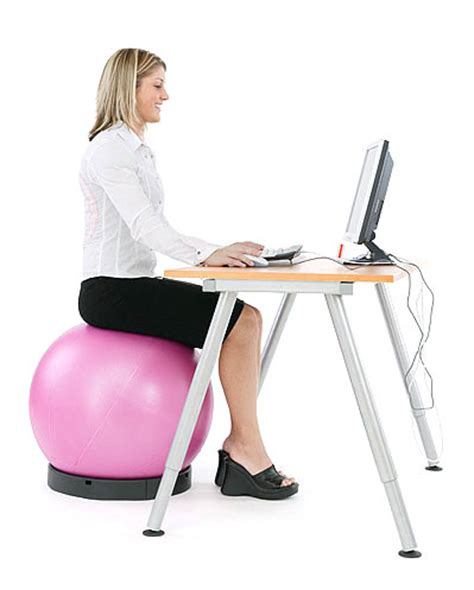 ball to sit on at desk ball chair active sitting with swissball by theragear
