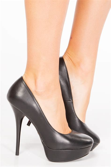 Heels Brukat Black 3 sania black pu platform heels