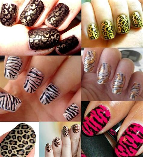 easy nail art print animal print nail art