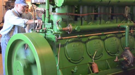 old diesel boat engine antique marine engine show mystic 2013 atlas diesel youtube