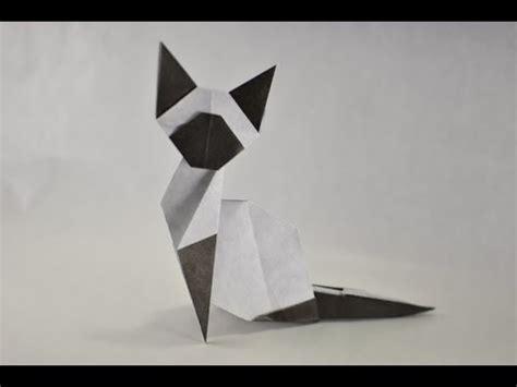 How To Do Origami Cat - origami easy siamese cat by makoto yamaguchi yakomoga