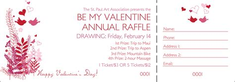 free printable valentine raffle tickets valentine ticket template pictures to pin on pinterest