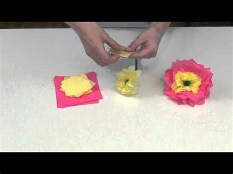 Flowers Out Of Tissue Paper And Pipe Cleaners - tissue paper flowers made with tissue squares and pipe
