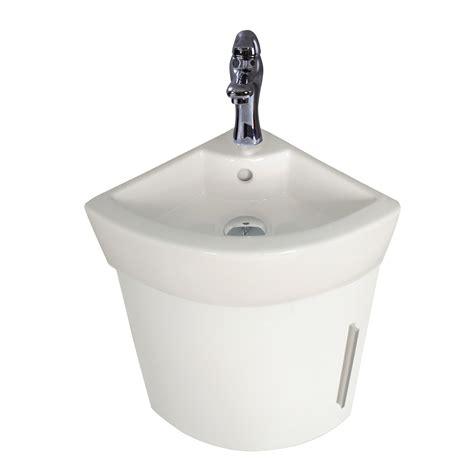 Corner Wall Mount Sinks Bathroom - corner bathroom cabinet sink white vanity wall mount