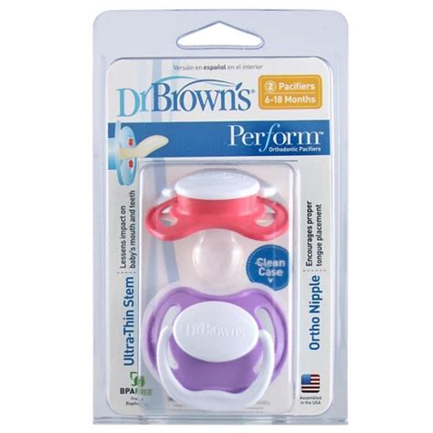 Dr Brown S Performer Pacifierstage 1 dr brown s pacifiers stage one packs of 2 11street malaysia pacifiers