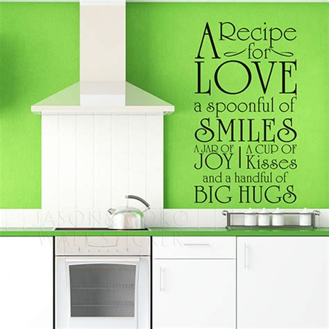 wall stickers for kitchens diy a recipe for words kitchen cookhouse wall decals stickers vinyl murals