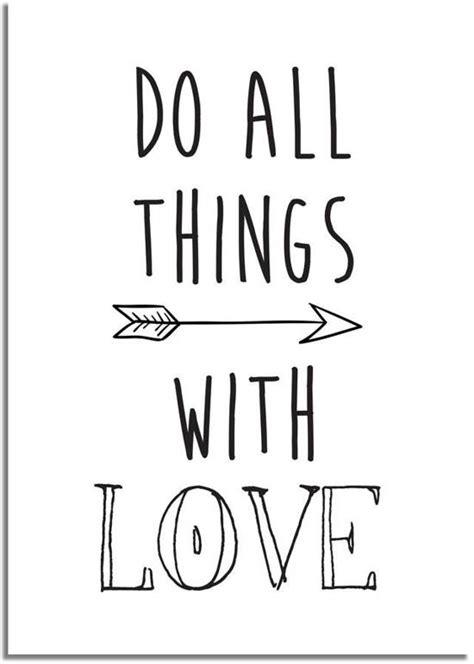 tekst poster zwart wit bol tekst poster do all things with love designclaud
