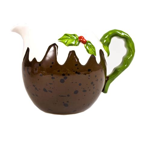 christmas pudding milk jug 15cm party decorations and
