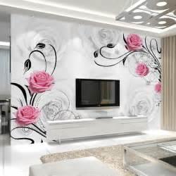 Bedroom Wallpaper Sale Aliexpress Buy Customized 3d Flower Photo Wallpaper