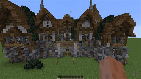 Minecraft Castle Floor Plan a medieval manor pour minecraft