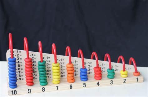 Mainan Edukatif Edukasi Anak Balok Kayu Alur Kawat Rumah Awet sempoa abacus 1 10 mainan kayu edukasi anak
