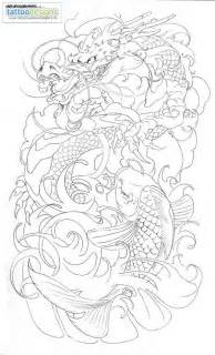 dragon koi half sleeve tattoo by brado umg tattoo design