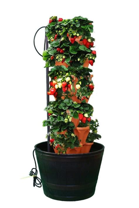 aquavistainc  stacky stacking hydroponic pots tower