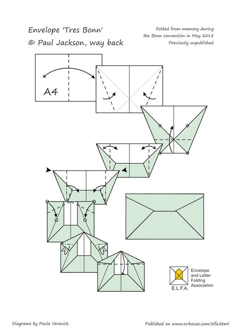 How To Make A Paper Envelope With A4 Paper - origami envelope a4 tutorial origami handmade