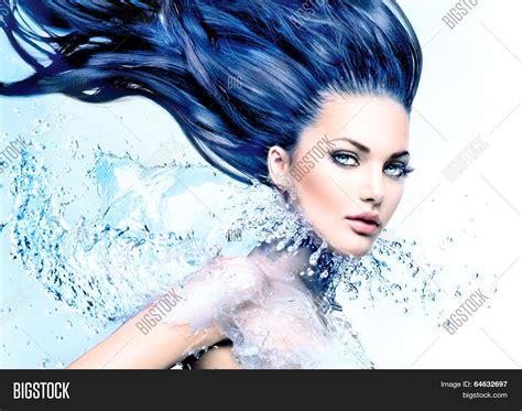 fashion model water splash image amp photo bigstock