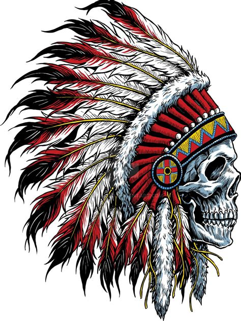 skull headdress tattoo indian skull by creativebd deviantart on deviantart