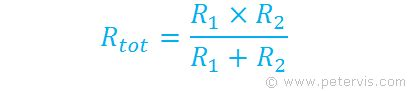 standard resistor value equation resistors in parallel