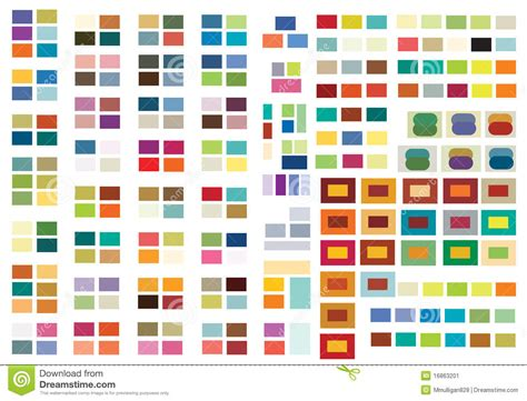 2 color combinations print or web color combinations stock image image