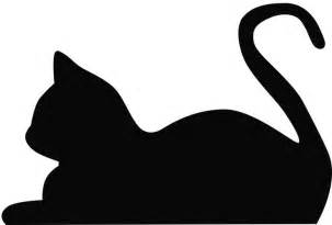 Cat Silhouette Template laying cat silhouette a study in silhouettes gardens cat outline and silhouette