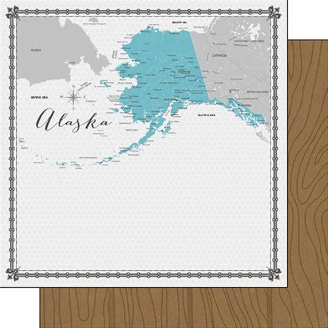 Memories Paper - alaska memories map scrapbook paper
