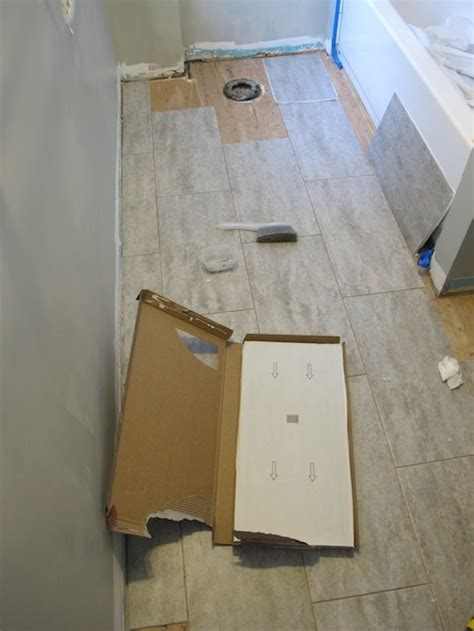 diy bathroom tile floor diy bathroom tile installation room design ideas