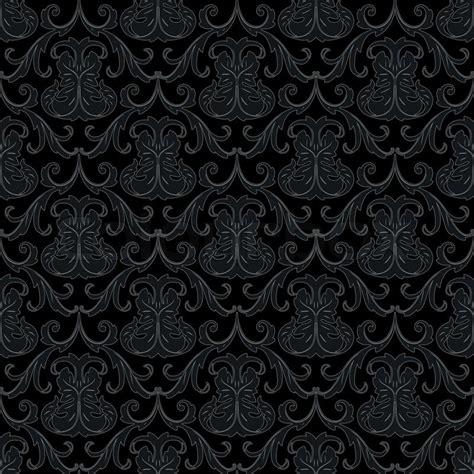 black wallpaper pattern vector seamless black wallpaper pattern stock vector colourbox