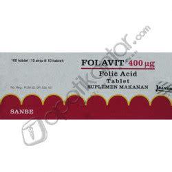Tablet Folavit folavit 400 mcg tablet apotik antar apotik antar call center 0855 7467 7403
