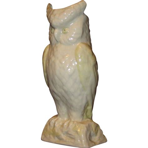 Belleek Owl Vase white belleek owl vase gold from