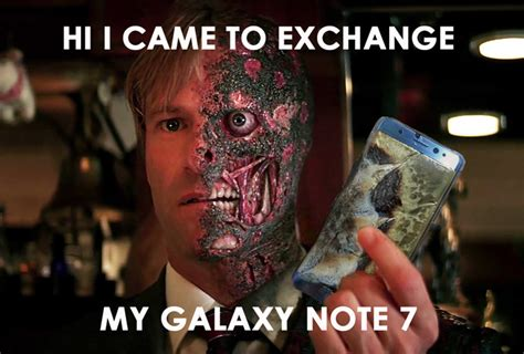 Galaxy Phone Meme - list of hilarious reactions to the exploding samsung