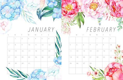 flower design kalender freebies calend 225 rios para 2018 blogandinho