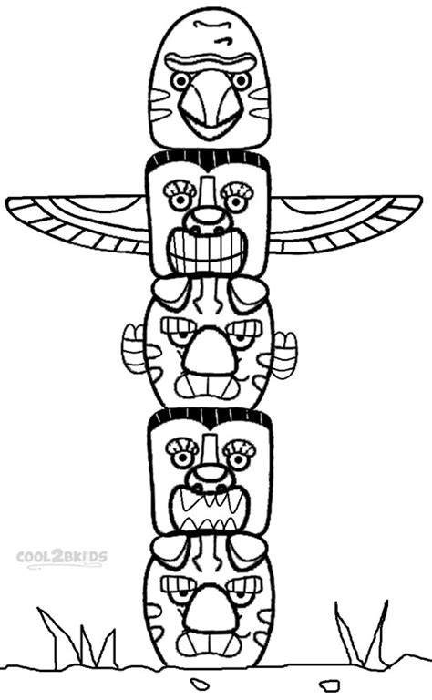 Pole Coloring Page totem pole coloring pages barriee