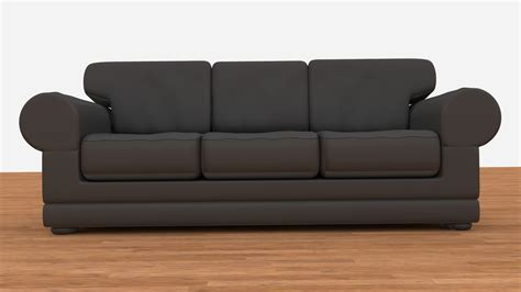 Leather Couch 3d Model Obj Blend Cgtrader Com