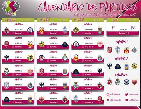 Calendario Liga Mx Femenil Liga Mx Femenil P 225 Oficial De La Liga F 250 Tbol