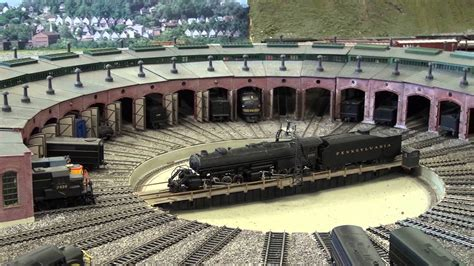 round house upstairs ho gauge model train layout at the hagerstown roundhouse museum youtube
