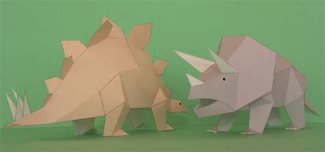 How To Make A Dinosaur Model From Paper Mache - 恐竜 ペーパークラフト paper dinosaur model