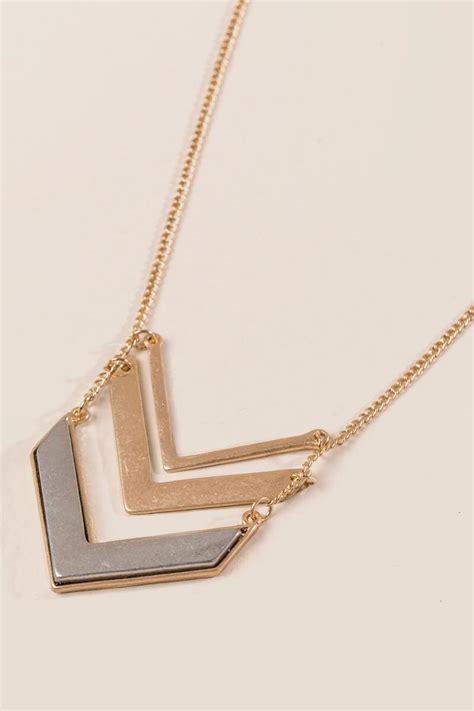 diem chevron pendant necklace s