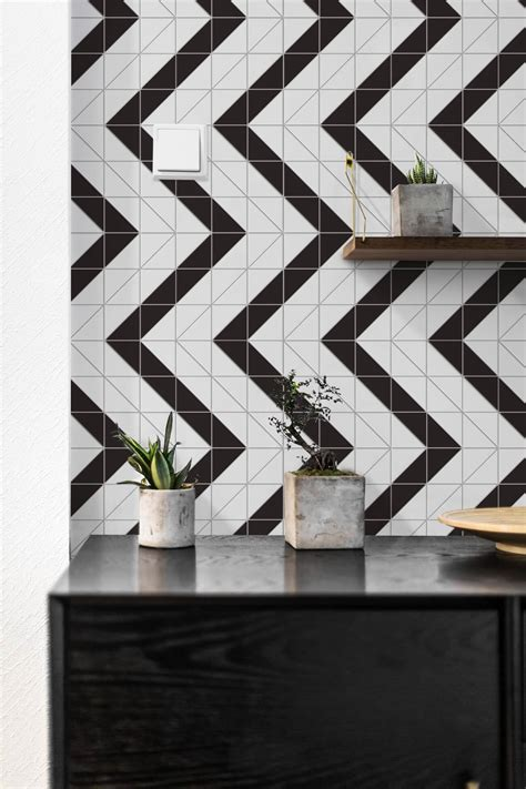 geometric black and white floor tiles 4 quot railroad pattern black white matte porcelain geometric