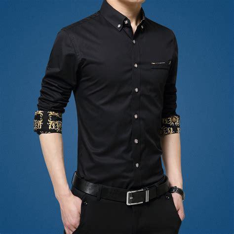 Kemeja Panjang Black List kemeja lengan panjang pria slim fit size l black