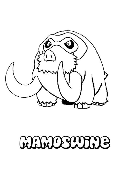 ice pokemon coloring pages mamoswine coloring pages ice pokemon coloring pages